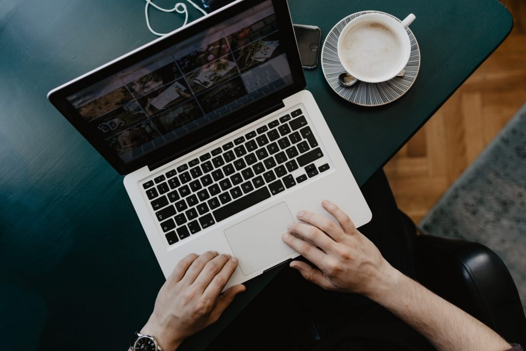 Get yourself a cup of coffee and start working on laptop